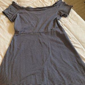 NWOT bare shoulder dress in tall length.